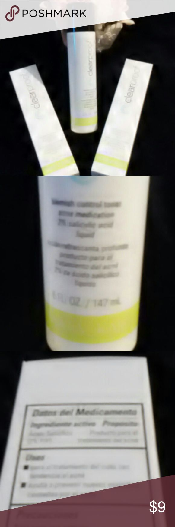 NIB Mary Kay Clearproof Acne Blemish Control Toner New in Box MK Acne Blemish Control Toner 5 fluid ounces. 2% Salicylic Acid Acne Medication. See other Clearproof products in my closet. Bundle and save. One Shipping fee! Mary Kay Makeup