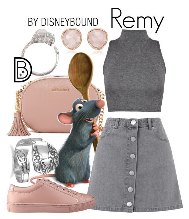 """""""Remy"""" by leslieakay ❤ liked on Polyvore featuring Monica Vinader, MICHAEL Michael Kors, Disney, Miss Selfridge, WearAll, GUESS, disney, disneybound and disneycharacter"""