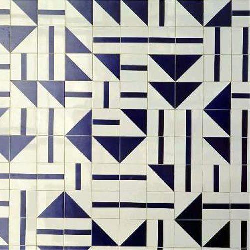 Tiles in Museu Nacional de Gemas, 1966, Brasilia. Photo by Edgar César Filho