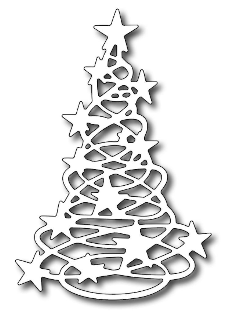 Frantic Stamper - Precision Dies - Starlight Tree ,$10.99: