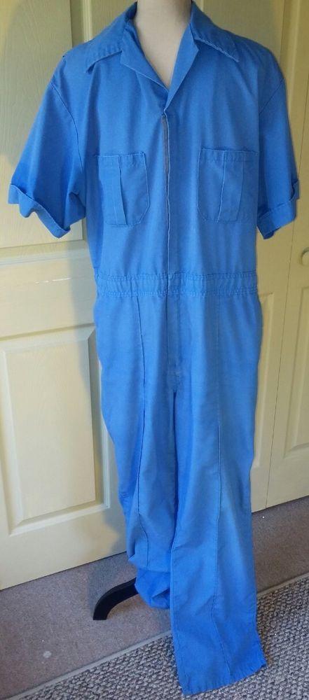 Wall's VTG Men's Mechanic Coveralls Jumpsuit One Pc~Size 44~Bright Blue~Work  | Clothing, Shoes & Accessories, Vintage, Men's Vintage Clothing | eBay!