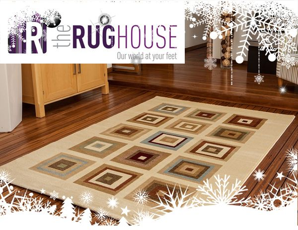 Follow The Rug House on Pinterest and pin this image to win a Dakota Modern Rug from The Rug House.  Dakota Squares Cream & Beige Modern Rug 110cmx150cm. www.therughouse.co.uk