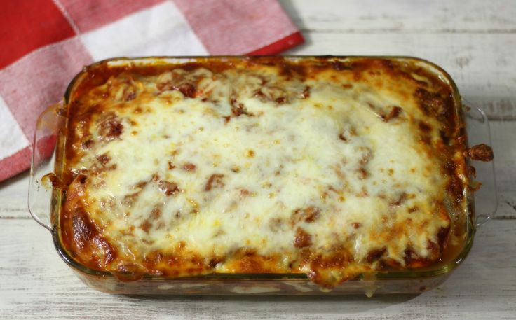 Zucchini Meat Lasagna - A thick, hearty noodle-less lasagna made with ...