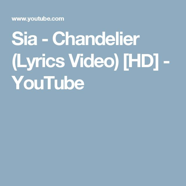 Astonishing Sia Chandelier Lyrics Listen Gallery - Chandelier ...