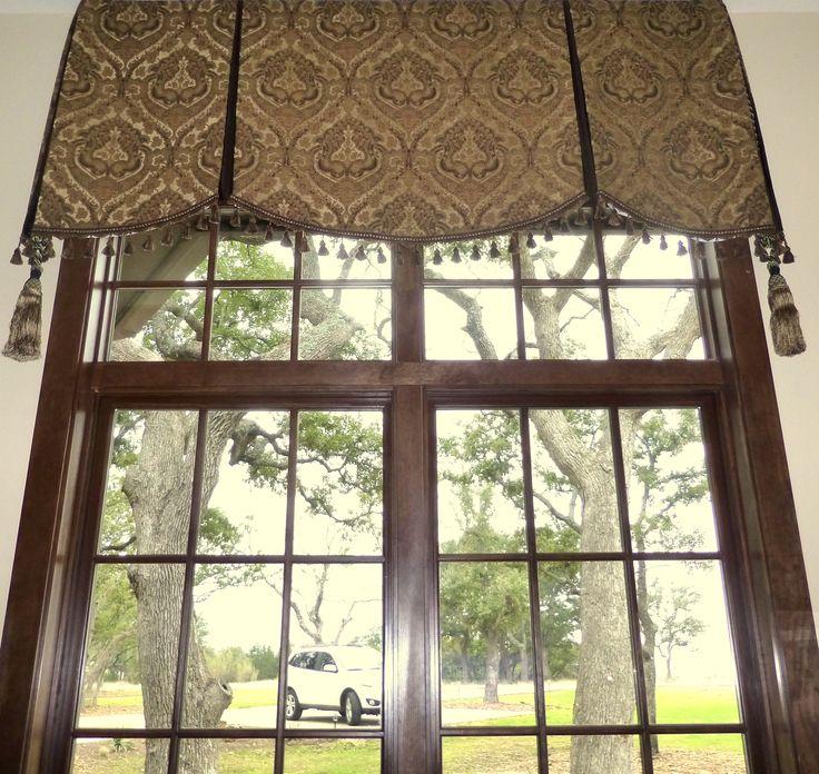 Soft Cornice Valance Over Transom Window Quot No Sew