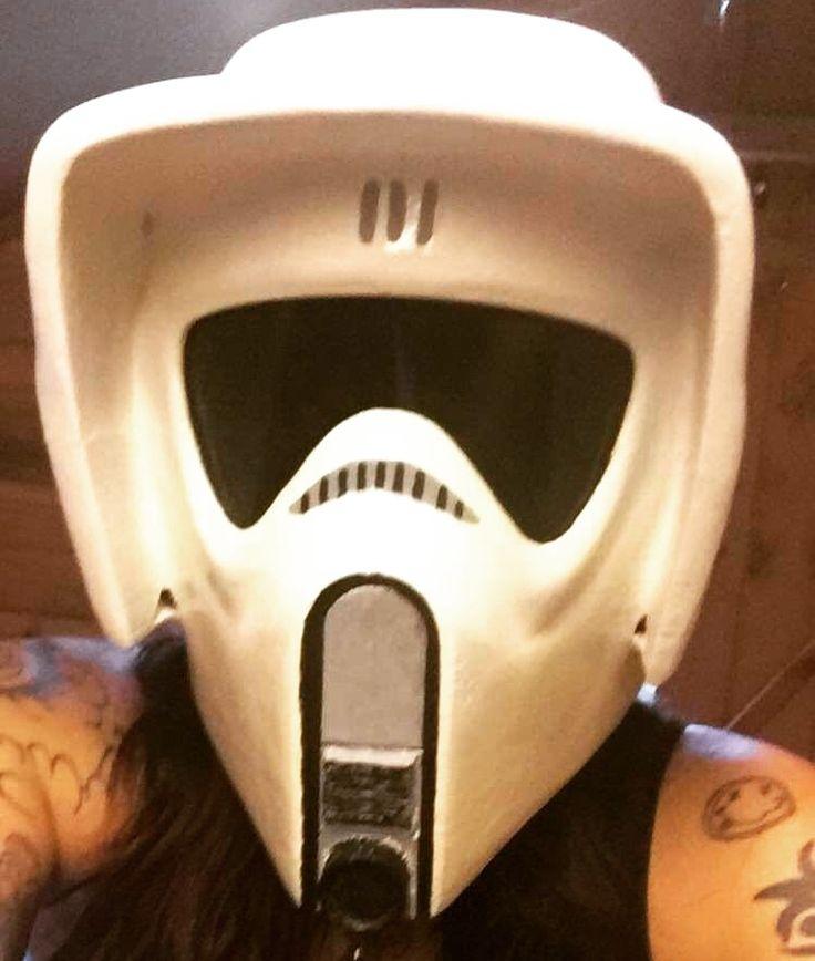 3D printed scout trooper helmet my husband made.