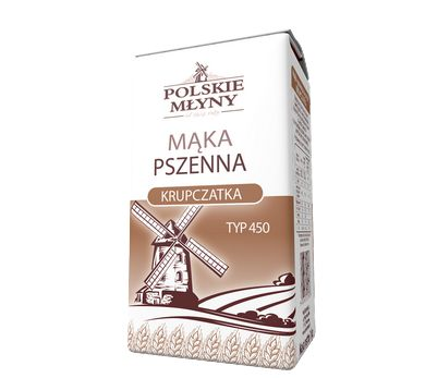 Mąka pszenna krupczatka typ450. Mąka pszenna krupczatka typ 450  płońska to mąka regionalna, która charakteryzuje się niezwykłym smakiem oraz tradycyjnie wytwarzaną recepturą. Dzięki gęstszej, gruboziarnistej konsystencji idealnie nadaje się do kruchych ciast oraz ciasteczek. Doskonała również  do makaronów lub sosów. Nie można się bez niej także obejść podczas przygotowywania panierek i kruszonek.