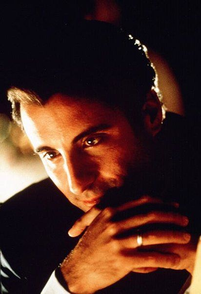 Andy Garcia. He has the ability, in the movies, to look at a woman as if she, alone, is the most beautiful person in the world... More sexy than any muscle man... Ever