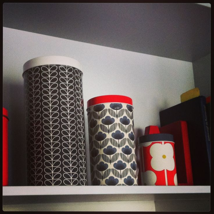New Orla Kiely tins cannisters