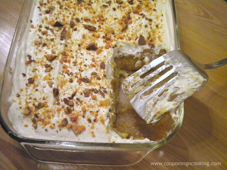 My Cake Maker Recipes List: Butterfinger Cake! Three Simple Steps And Only A Few