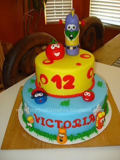 Just in Cakes: Veggie Tales Cake
