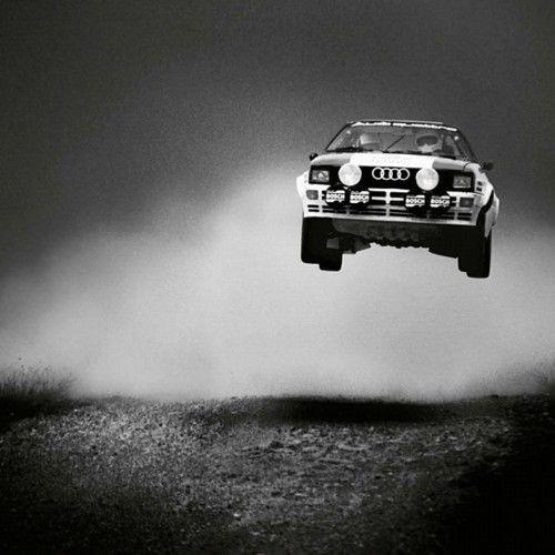 Airborne Audi, Quattro in the air.