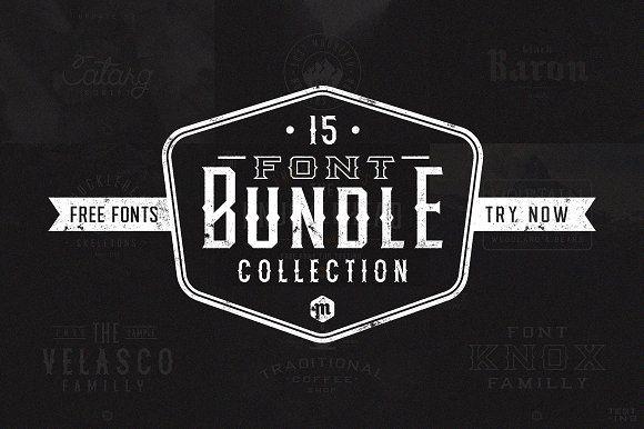 Font Bundle by Mcraft Shop on @creativemarket
