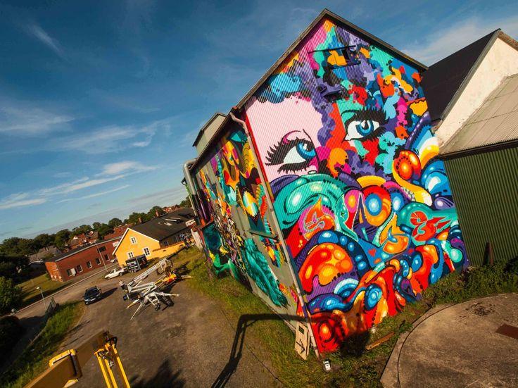 Streetart österlen Dan sapunar & Karolina Wojick pic by Futuro berg