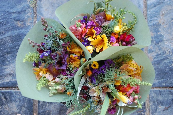 colourful late spring bouquets