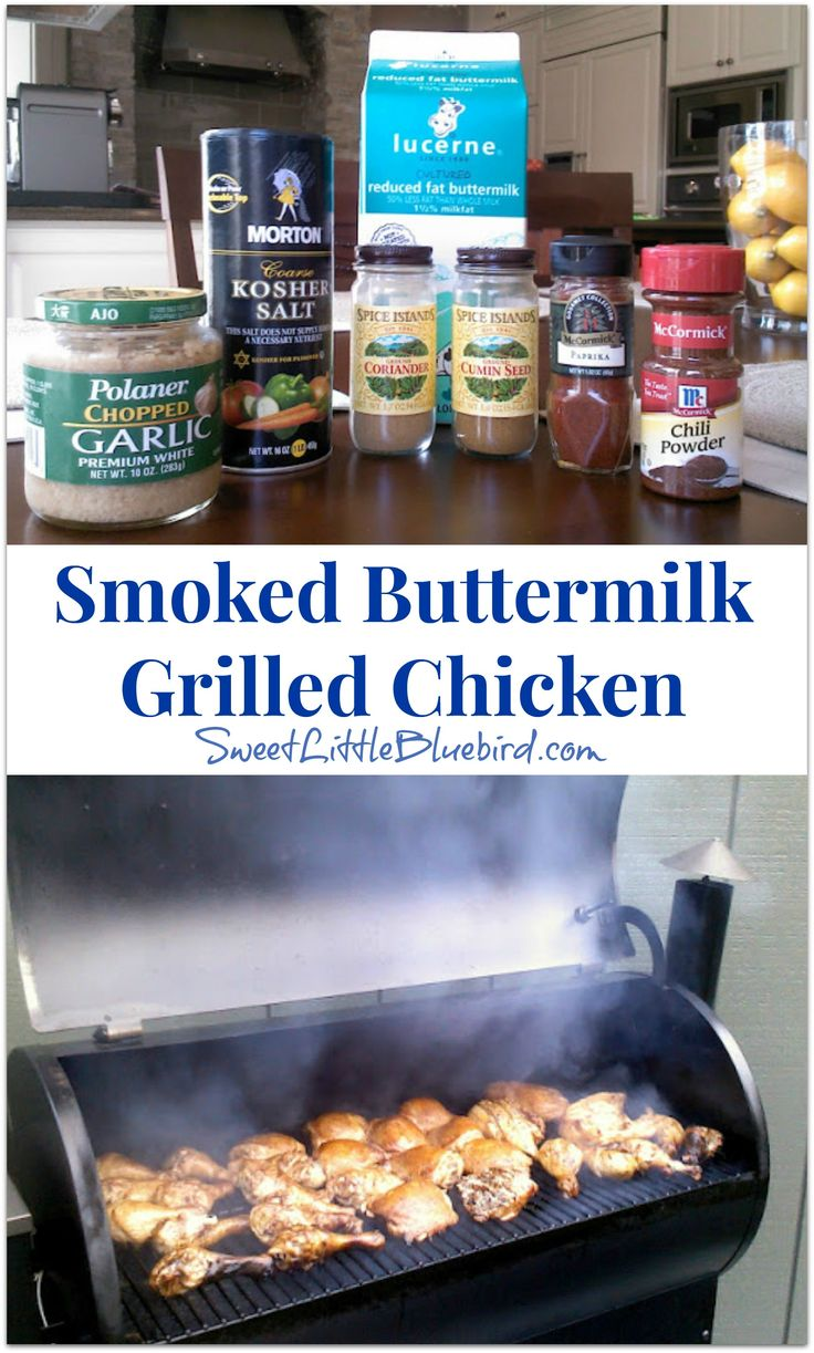 Smoked Buttermilk Grilled Chicken - Tried  and True Recipe |   SweetLittleBluebird.com