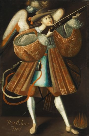ARCHANGEL URIEL, c. 1725 School of the Master of Calamarca - Spanish Colonial Collection at the Denver Art Museum