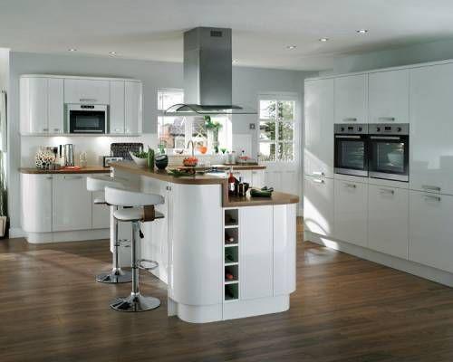 Howdens Glendevon gloss white kitchen unit for under sink