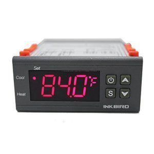 Inkbird ITC-1000 2 Relais Thermostat Numerique 220V, Chauffage et Climatisation Regulateur Temperature, pour Frigo,Aquarium,Chauffe Eau…