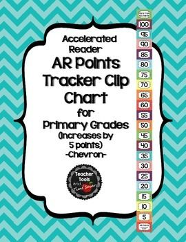 Accelerated Reader (AR) Points Clip Chart (every 5 points) - Cute Chevrons *Revised with smaller point values for early elementary classrooms*Check out all of my coordinating 'Cute Chevrons' items like this one in my store!This adorable AR Clip Chart is a simple solution to motivating your students to achieve AR Goals.Here are all of my Cute Chevrons Accelerated Reader (AR) Points Tracker ChartsAccelerated Reader (AR) Points Goal Tracker Clip Chart - Cute ChevronsAccelerated Reader (AR)…
