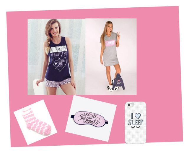 """""""Pj's"""" by yazzylovexoxo on Polyvore featuring Lipsy, New Directions, Forever 21 and Casetify"""