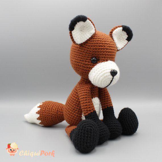 Tiny Fox Pattern Crochet Amigurumi PDF Tutorial Instant | Etsy | 570x570