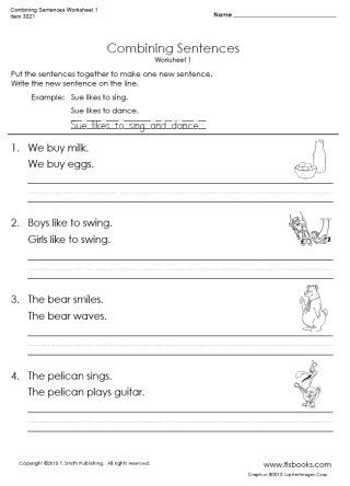 snapshot image of combining sentences worksheet 1 educational for the kiddos teaching. Black Bedroom Furniture Sets. Home Design Ideas