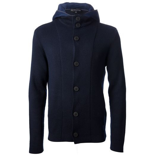 Emporio #Armani hooded button up cardigan