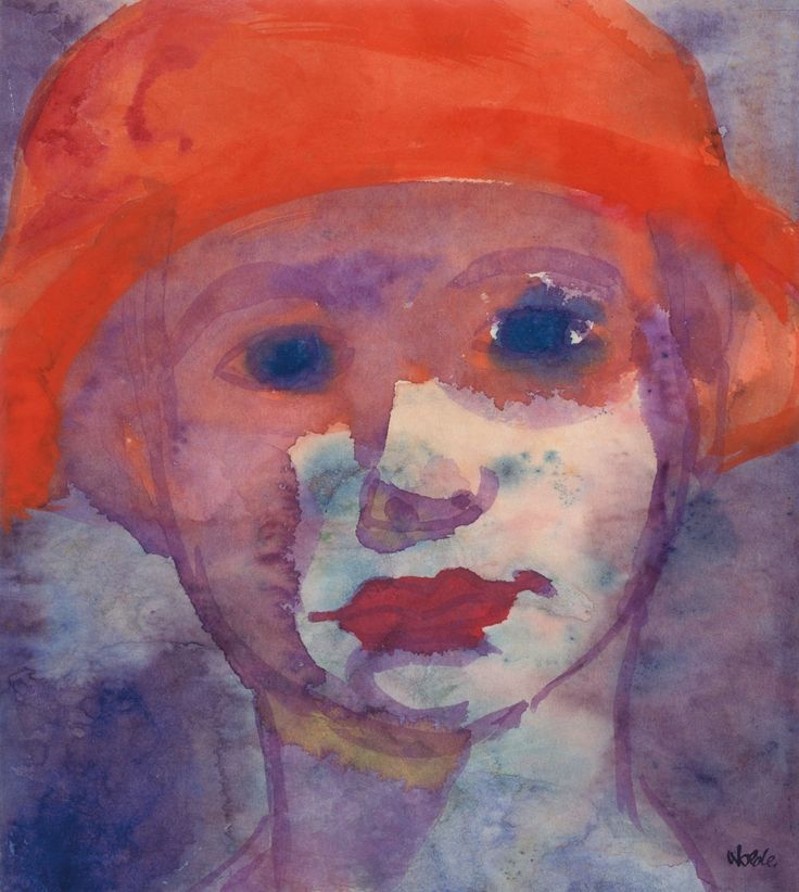 Emil Nolde, the famous German painter and graphic artist, was one of the pioneers of Expressionism. Description from akvarellmuseet.org. I searched for this on bing.com/images