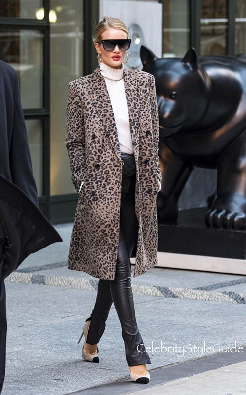 3341999a75 The Rosie Huntington Whiteley-Approved Way To Wear Leopard Print ...