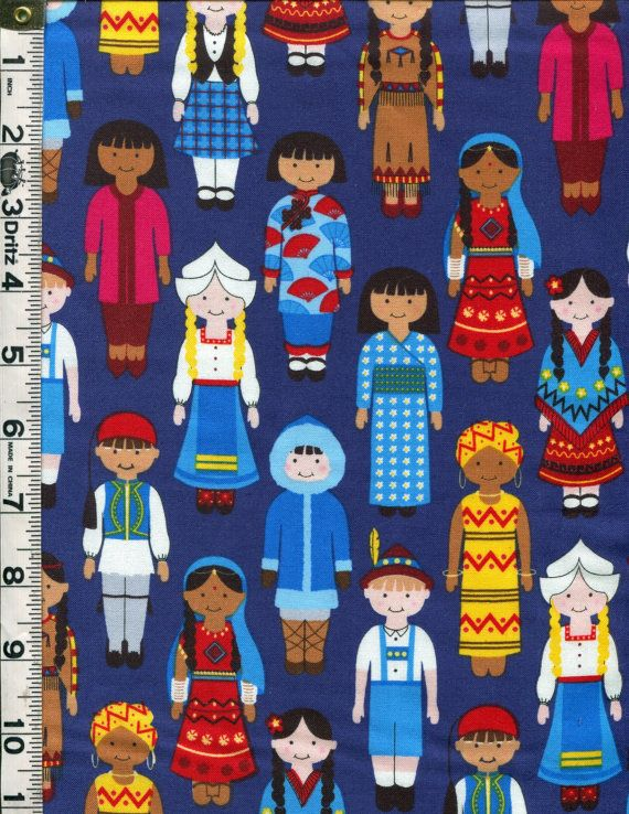 Fabric Kaufman Its a KIDS WORLD multicultural by fabricsmart, $10.60