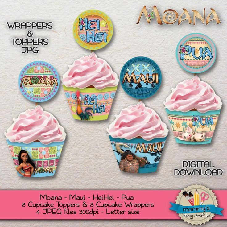 Moana party anyone? Yes! Decorate your cupcakes with these wonderful printable wrappers and toppers, exclusive from Mommmy's Easy Crafts Etsy store: etsy.com/shop/MommysEasyCrafts  • • •  ¿Fiesta de Moana? ¡Claro que si! Decora tus magdalenas con estos maravillosos elementos imprimibles, exclusivos de nuestra tienda Etsy: etsy.com/shop/MommysEasyCrafts  #Moana #Fiesta #Party #PartyTime #MoanaParty #Imprimibles #Printables #Etsy #EtsyStore #Cupcakes #Magdalenas #Wrappers #Toppers #Descarga…