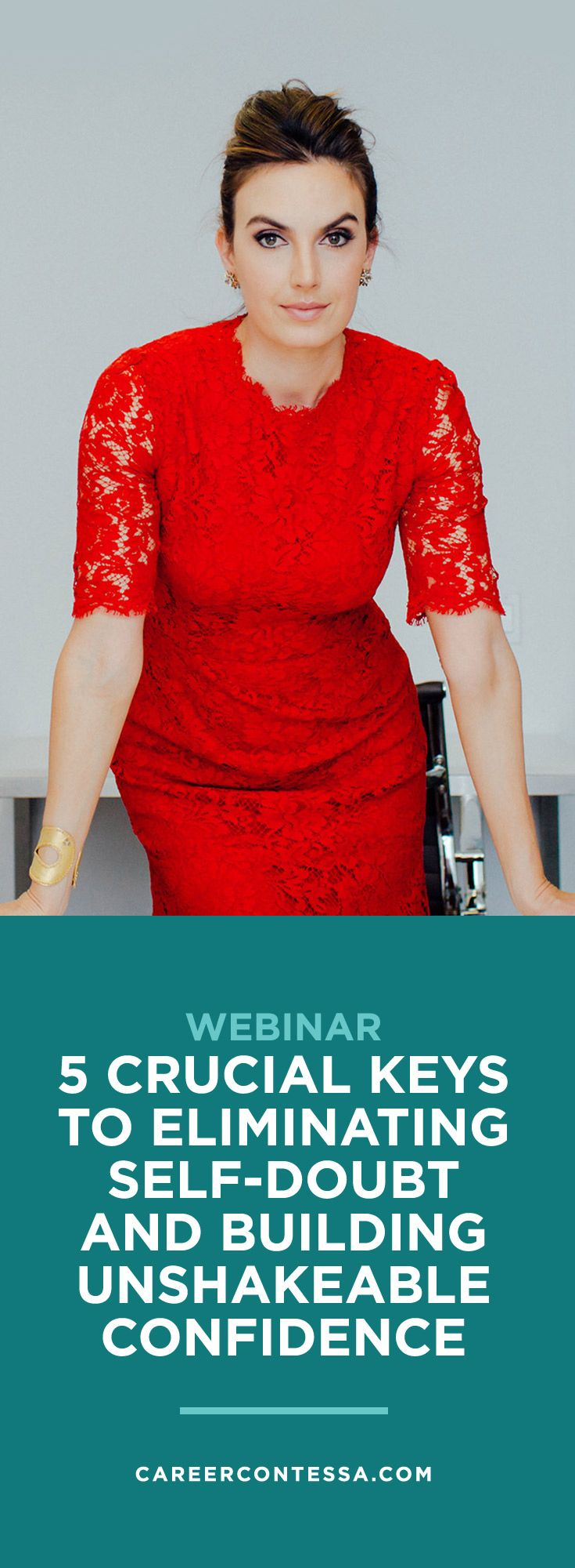 Building the career you want requirestaking risks—even (maybe specially) if you're risk averse. You know you need to take chances to prove your value, but how do you play big when self-doubt and a mean inner critic have drained your confidence?Join our FREE WEBINAR with Career Coach Stacy Smyk-Santiagoto learn how to boost your confidence in an authentic and dynamic way—from the inside out. It's time to overcome the barriers that keep you playing small.   CareerContessa.com