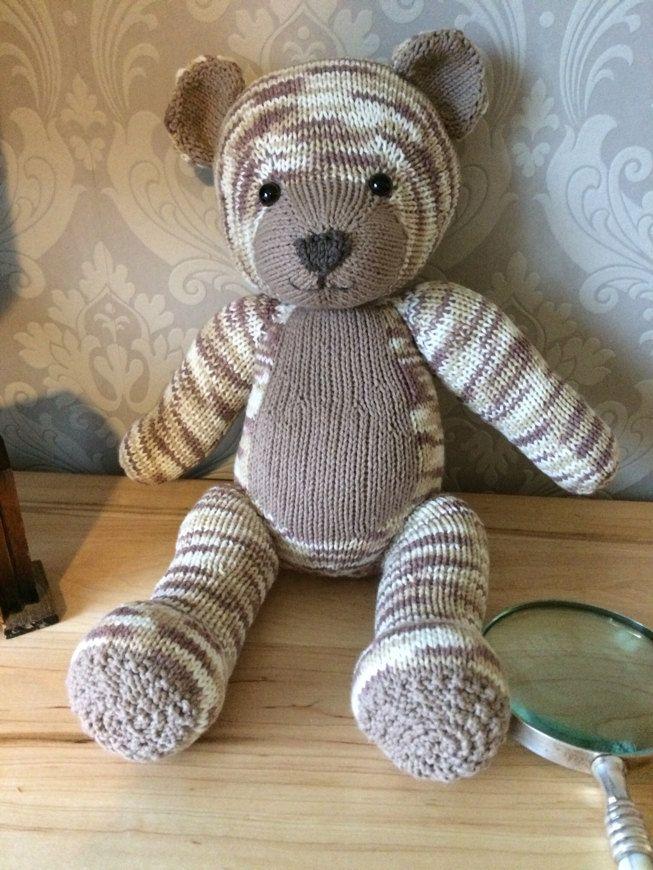 Knitables teddy bear knitting project shared on the LoveKnitting Community
