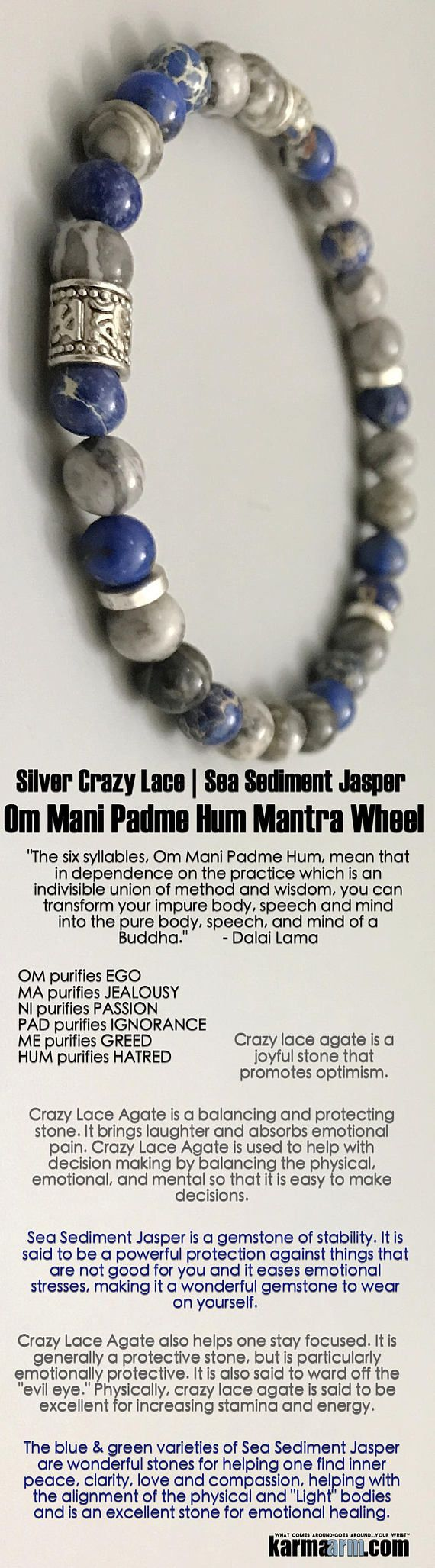 Buddhist Bracelet |                   Beaded Yoga Bracelets | Meditation Jewelry  ♛ Crazy Lace #Agate is a balancing and protecting stone, bringing laughter and absorbing emotional pain. ♛ #BEADED #Yoga #Mens #Good #Luck #womens #Jewelry #Cartier #Eckhart #Tolle #CrystalEnergy #gifts #Chakra #Reiki #Healing #Kundalini #Law #Attraction #LOA #Love #Mantra #Mala #Meditation #prayer #mindfulness #wisdom #CrystalEnergy #Spiritual #Gifts #Mommy #Blog #Tony #Robbins #friendship #Stacks #Lucky