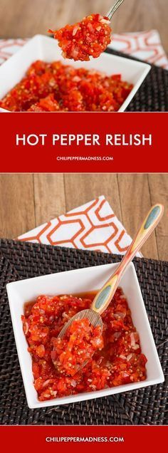 Hot Pepper Relish - This very simple recipe for pickled pepper relish is great…
