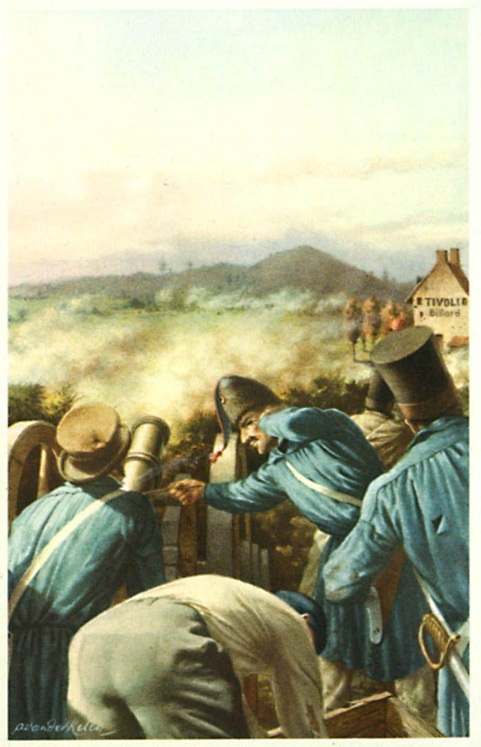 De Slag bij Leuven  Enkele dagen na de troonsbestijging van Leopold I, verbrak Willem I de wapenstilstand. Zijn legers vielen België binnen waar geen enkele defensiemaatregel voorzien was. Moedig voerde Leopold I de zwakke troepen aan waarover hij beschikte en vóór Leuven bracht hij de vijand tot staan.