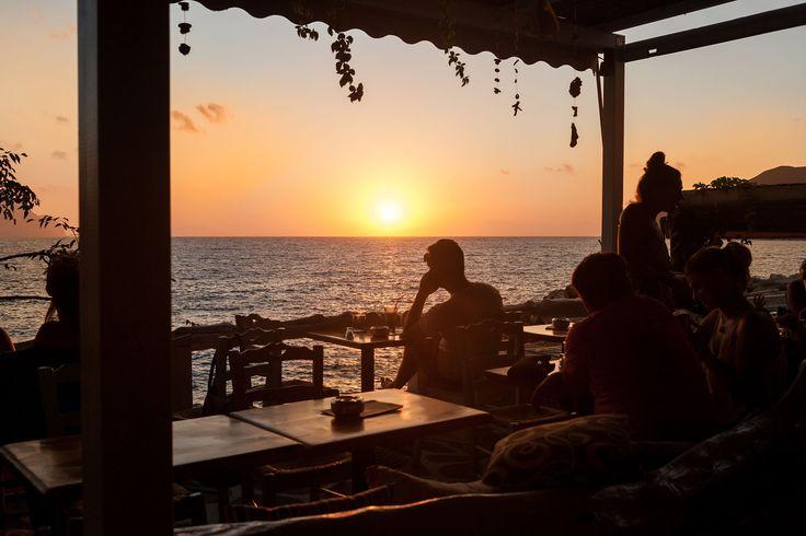 Sunset in Aegiali, Amorgos