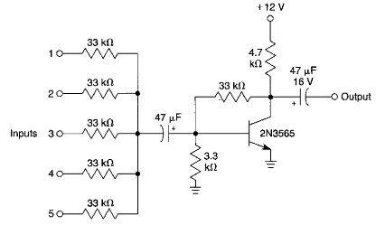 Simple audio mixer electronic project circuit diagram ...