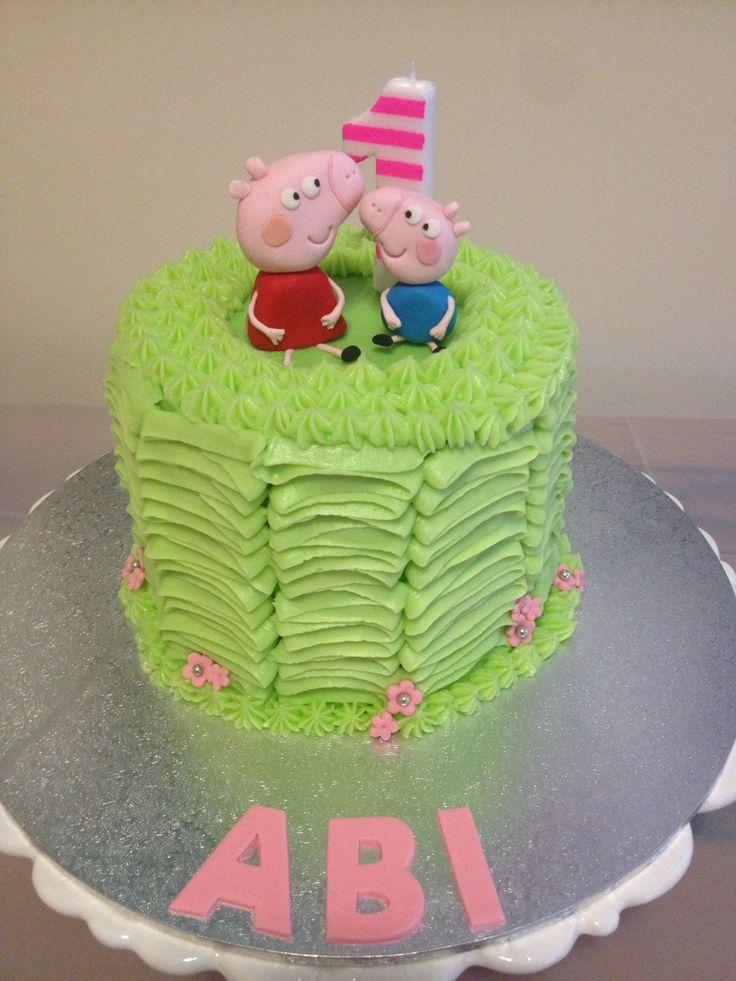 Peppa Pig cake. Abi's 1st Birthday