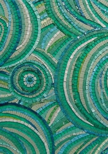 Pretty shades of green mosaics. Makes me want to get out my glass supplies. by harriet