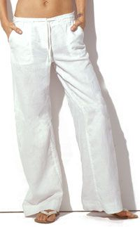 1000  images about The Quintessential White Linen Pants on Pinterest
