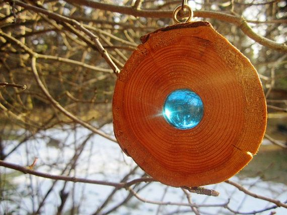 Rustikale Holz hängende Ornamente rustikale von BearlyInMontana…