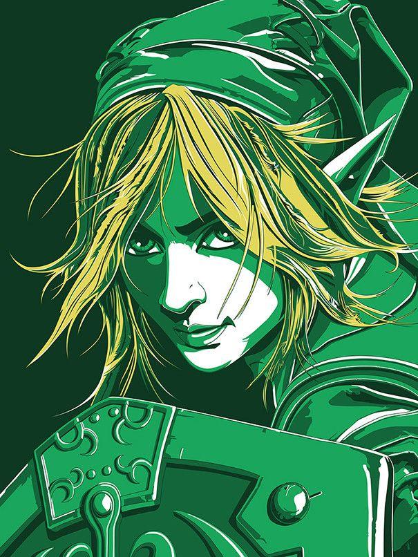"""""""Zelda - Link"""" by The Dark Inker - Hero Complex Gallery                                                                                                                                                                                 Plus"""