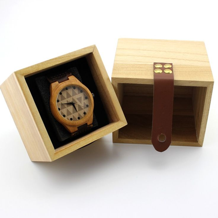 Small Light Wooden Watch Box //Price: $12.60 & FREE Shipping //     #hashtag2