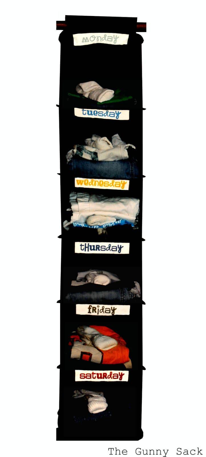 Weekly Clothes Organizer
