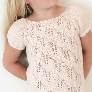 A lovely top with puffed sleeves and falling leaves on the front.