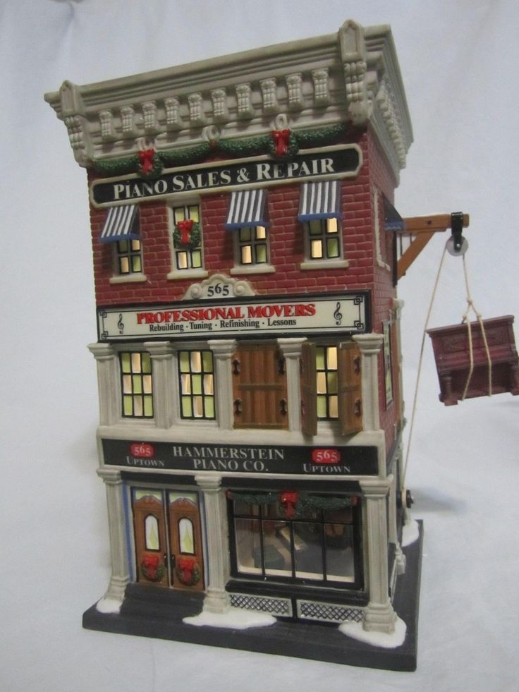 Department 56 Piano Sales Repair Christmas in The City Super RARE Sample Look | eBay