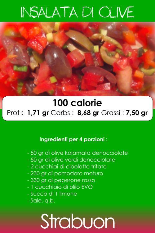 Una ricetta libanese per un'insalata di gran gusto, fresca e per chi ama le olive! Profumato e facile da preparare, questo piatto rapirà i vostri invitati! #olive #insalatadiolive #ricetta #cucinasalutare #strabuon #cucina #peperone #olivekalamata #kalamata