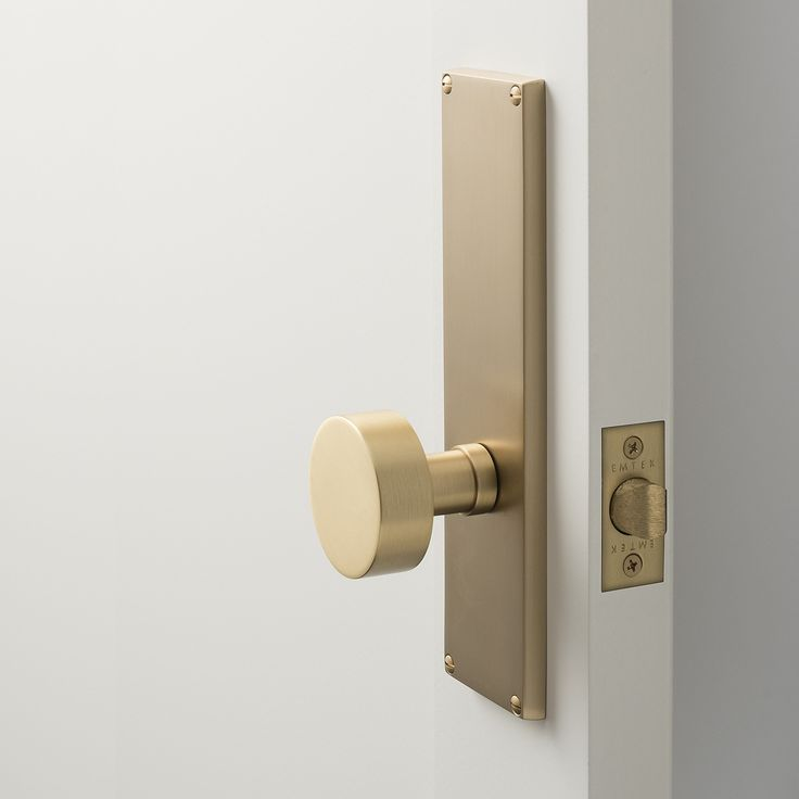 Tate Door Set with Cylinder Knob - Satin Brass